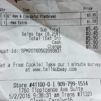 What kind of free cookie does Subway give customers for answering its survey?