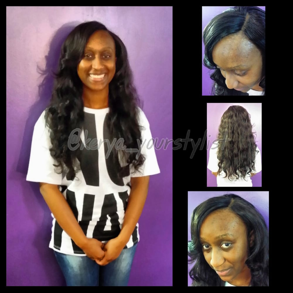 Full Head Sew In Weave With Invisible Part Closure Cutting And