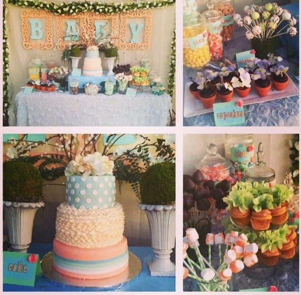 baby shower with a vintage garden theme check out those cupcakes