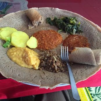 Photo Of Habesha Ethiopian Restaurant Fargo Nd United States Veggie Platter