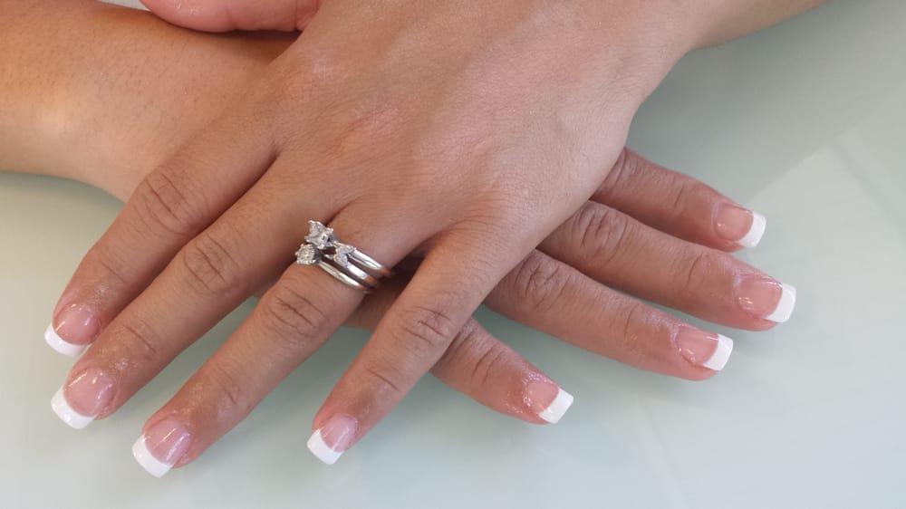 Full set french tip nails by Uyen - Yelp
