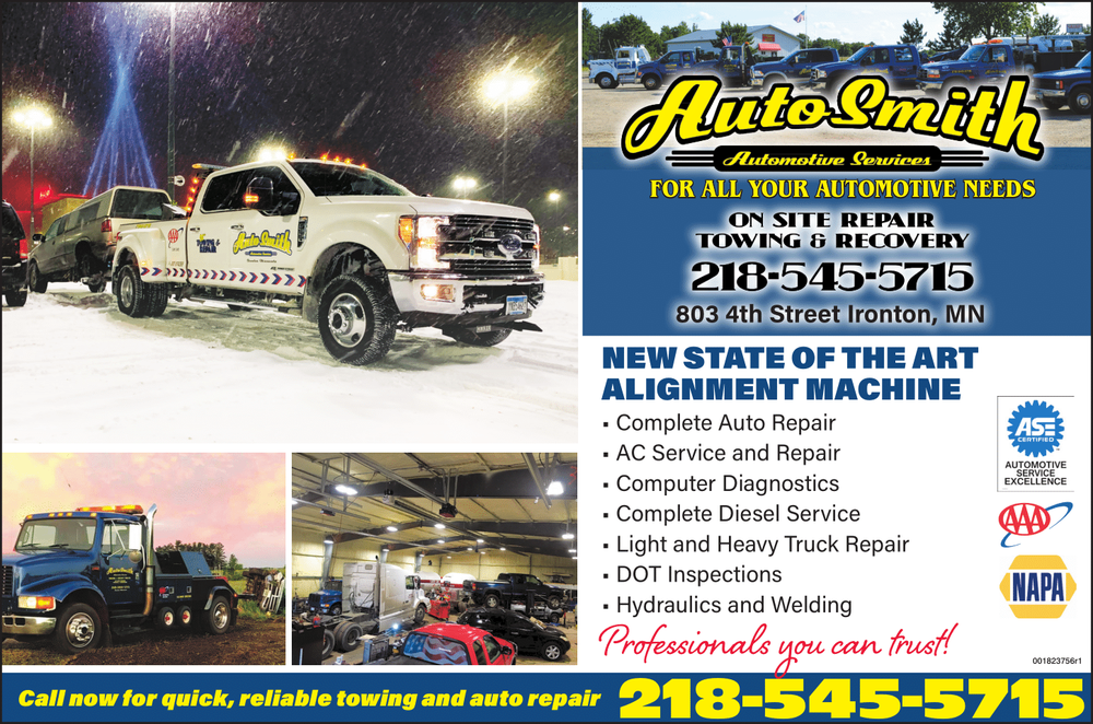 AutoSmith Services: 803 4th St, Ironton, MN