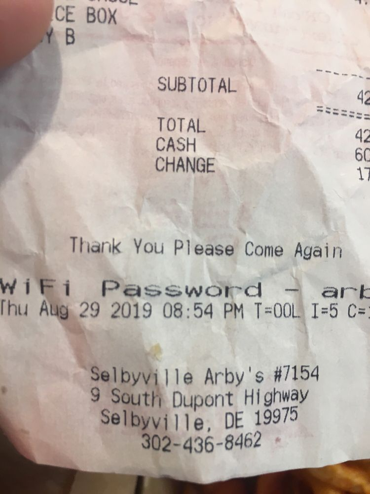 Arbys Roast Beef Restaurant: 9 S Dupont Hwy, Selbyville, DE