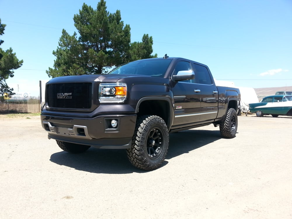 2015 gmc sierra 1500 4 kit w coilovers 34 tires on. Black Bedroom Furniture Sets. Home Design Ideas
