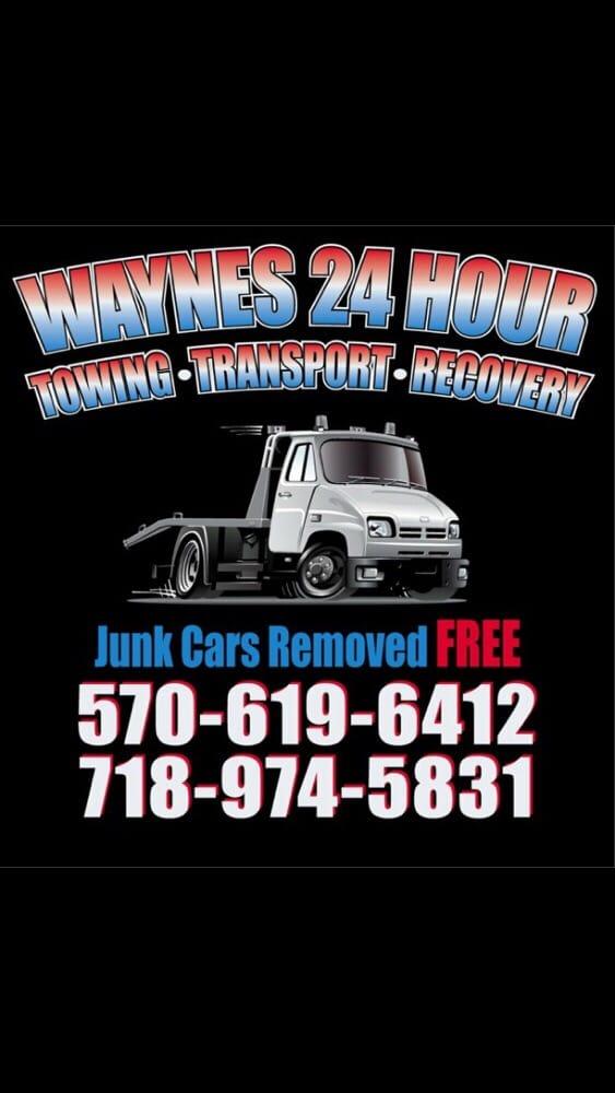 24 Hour Junk Cars >> Wayne S 24 Hour Towing Service 18 Photos Roadside Assistance