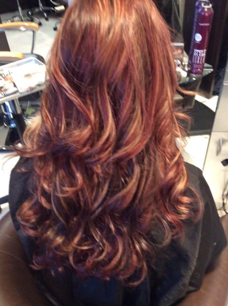 Schwarzkopf Cranberry Red Beige Blondedeep Plum Accent Colors