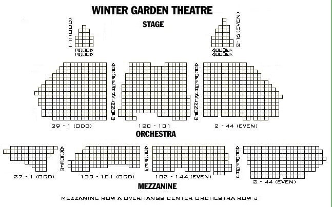 Photo Of Winter Garden Theatre New York Ny United States Seating Chart