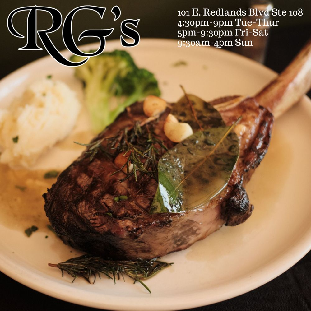 RG's American Grill: 101 E Redlands Blvd, Redlands, CA