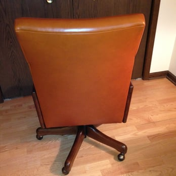 office chair reupholstery. plain chair photo of leou0027s furniture and upholstery  chicago il united states back  side in office chair reupholstery 0