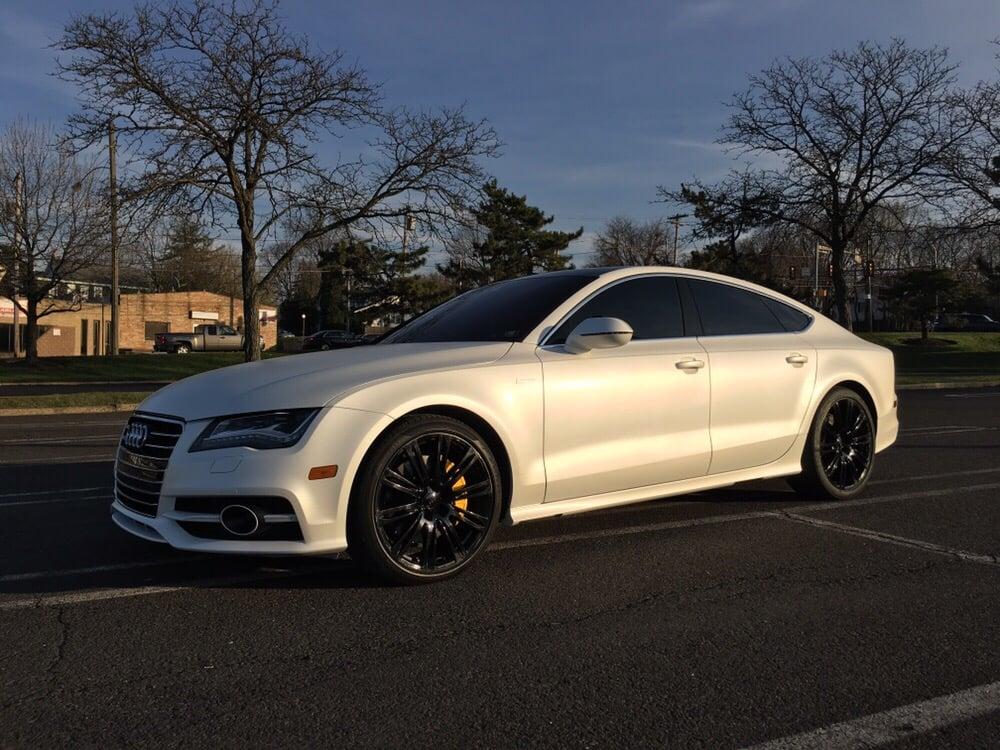 2015 Audi A7 Plastidipped In An Aggressive Pearl White