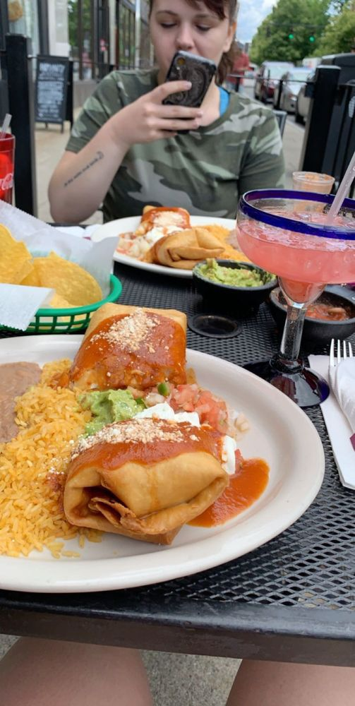 Food from El Potro Mexican Grill