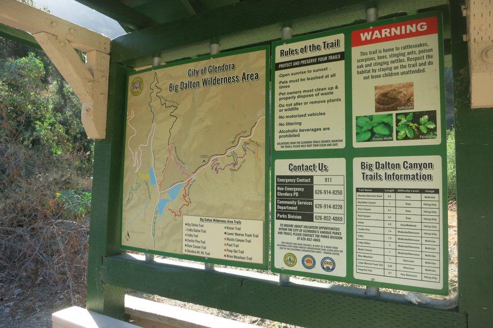 Big Dalton Canyon Wilderness Park: 2041 Big Dalton Canyon Rd, Glendora, CA
