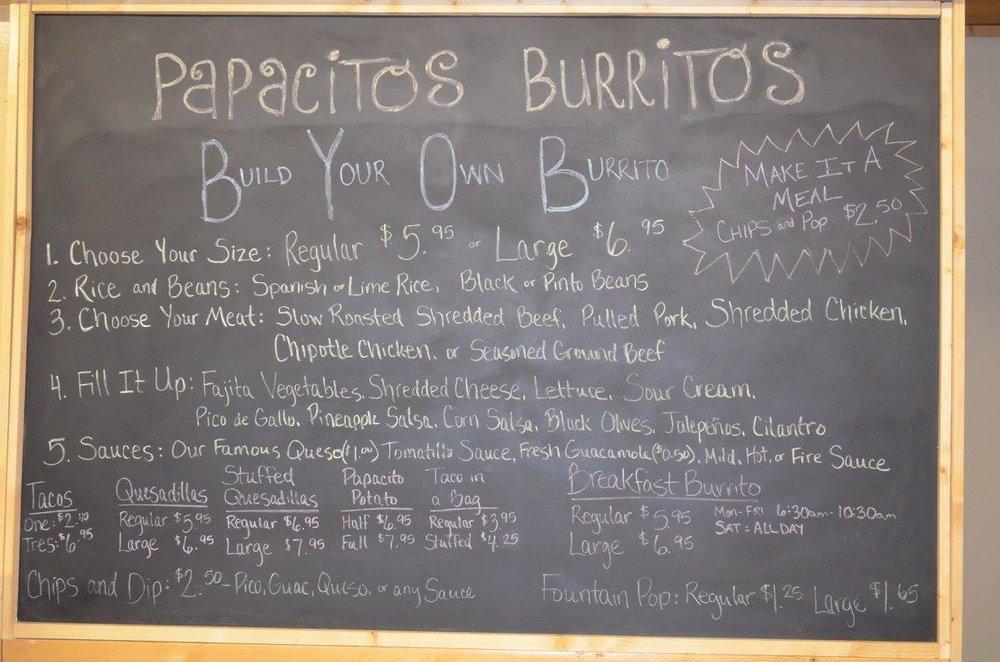 Papacitos Burritos: 410 W Main St, Perham, MN