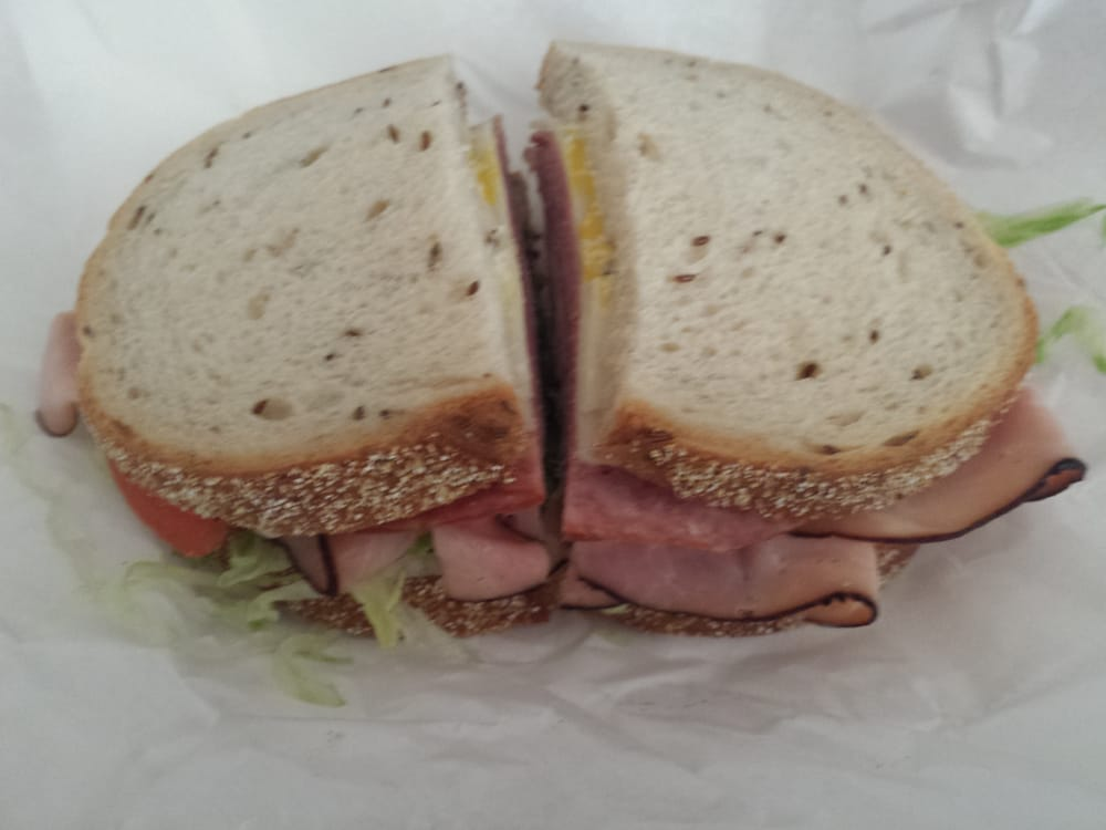 Black Forest Ham German Salami And Swiss Cheese On Rye
