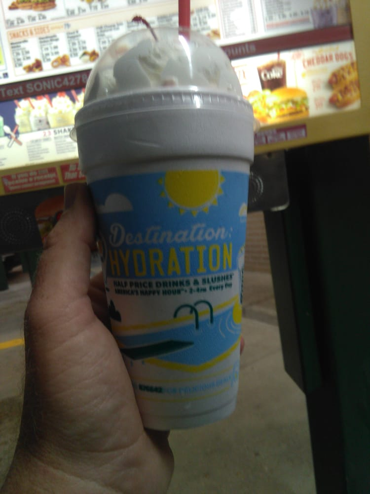Sonic half price shakes after 8pm