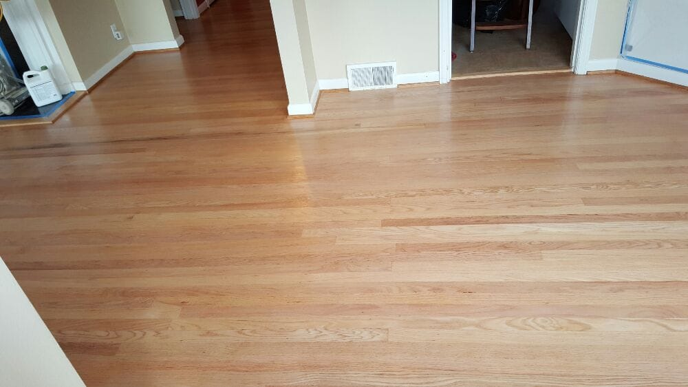 Red oak natural with water based finish yelp for Natural red oak floors
