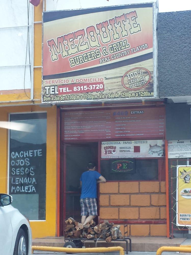 Mezquite burgers grill hamburguesas av puerta del for Av puerta del sol