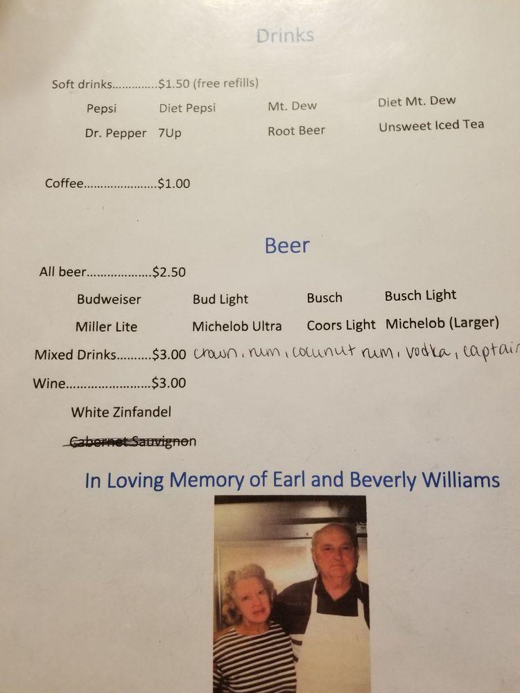 Earl's Supper Club: 103 E Union St, West Union, IL