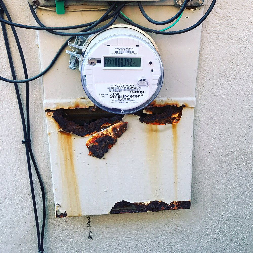 Typical Daly City Main Power Circuit Panel Due To Fog It Corrodes A House Electrical Wiring In Photo Of Boaz Electric Ca United States