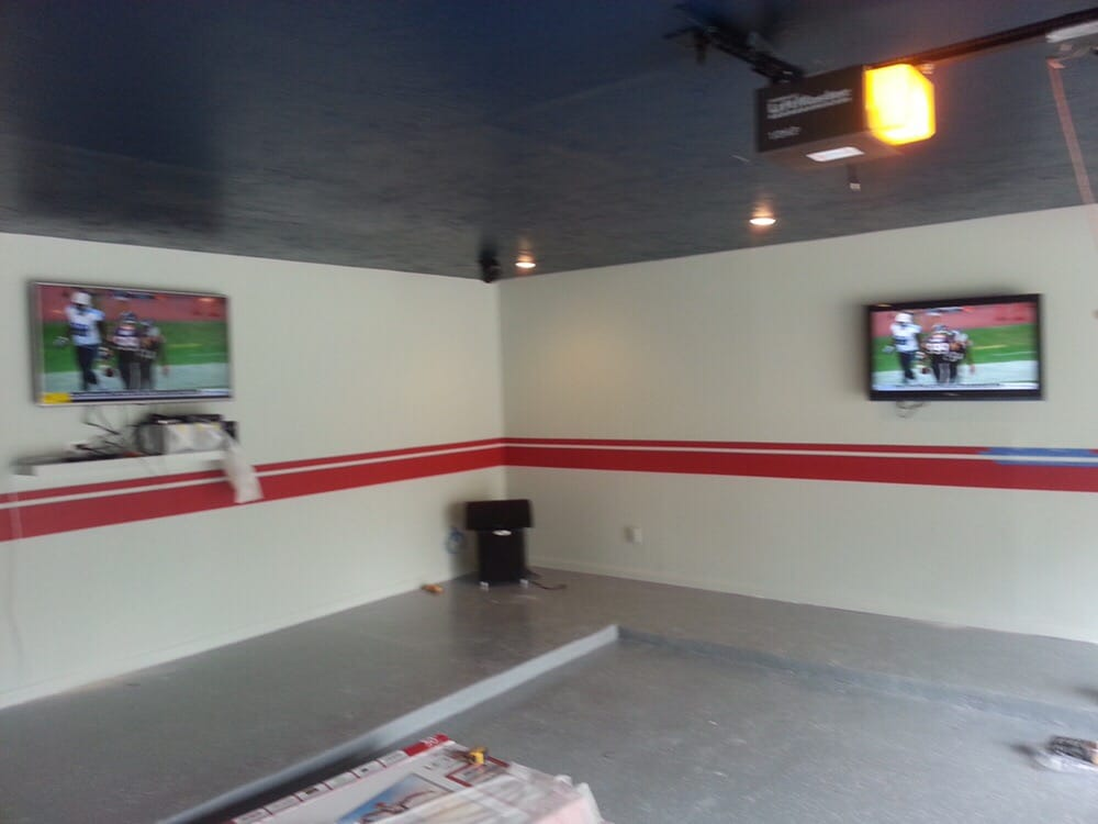 Houston Texans Man Cave Decor : Garage remodel transformed into texans themed man cave yelp