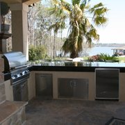 Patio Cover In Photo Of West East Construction   Humble, TX, United States. Summer  Kitchen Lake ...