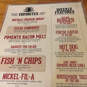 The Wooden Nickel Menu Cheap Picture Framing