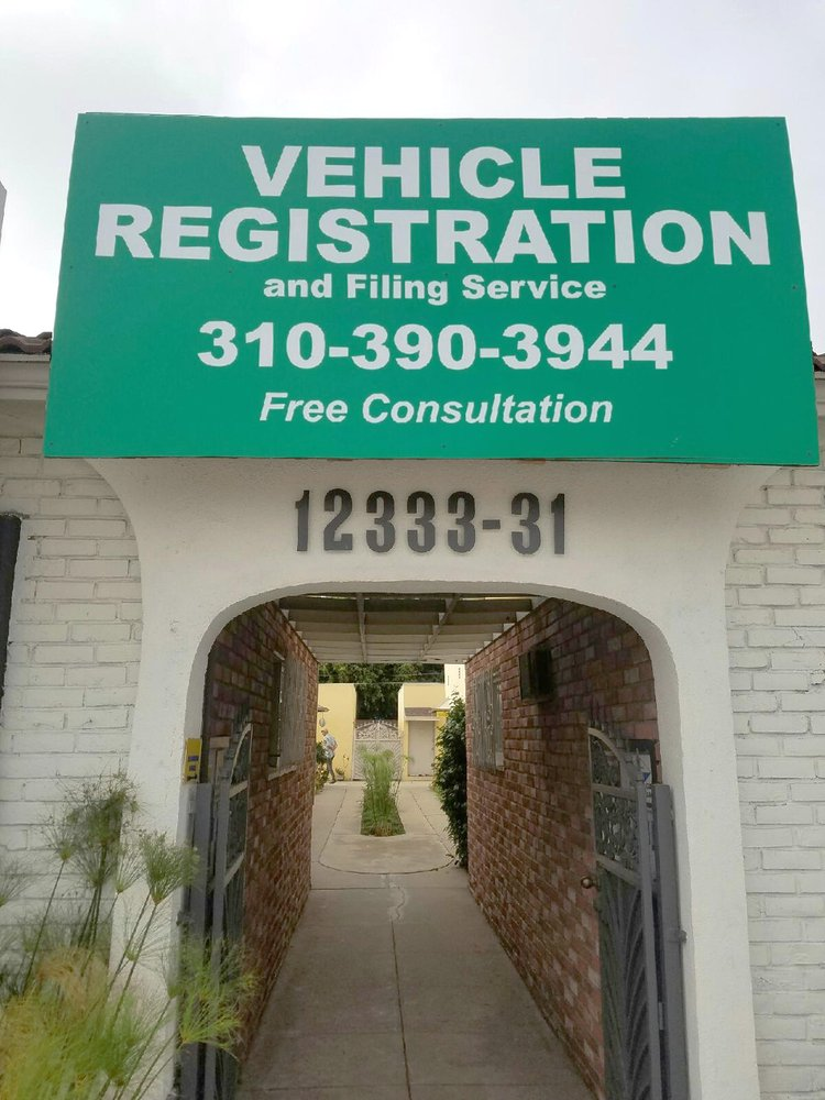 DMV Vehicle Registration Service: 12331 1/2 W Washington Blvd, Los Angeles, CA