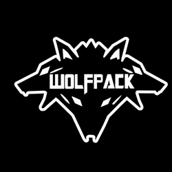 Wolf pack logo design - photo#53