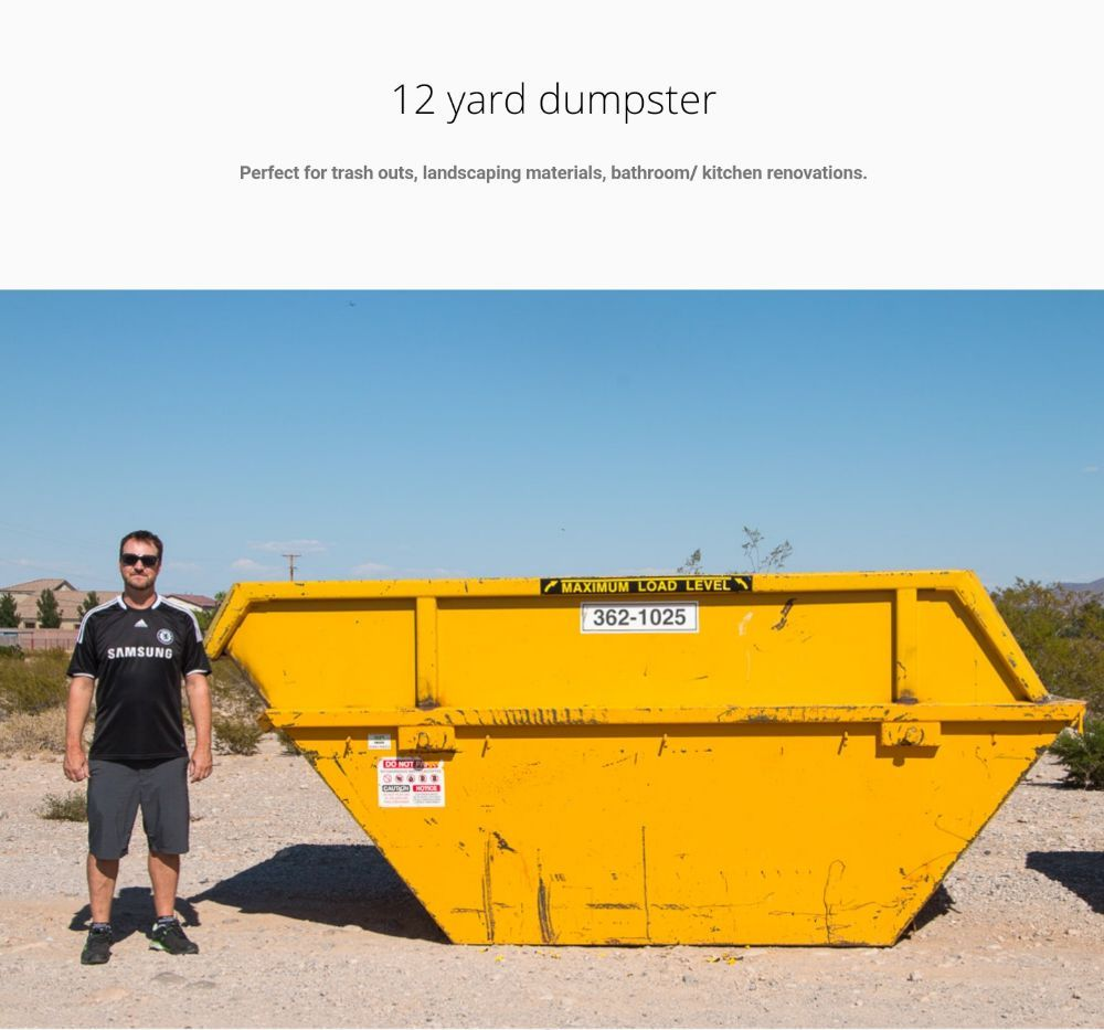 Our dumpsters come in many sizes, 3 cy, 6cy, 8cy, 10cy, and 12cy ...