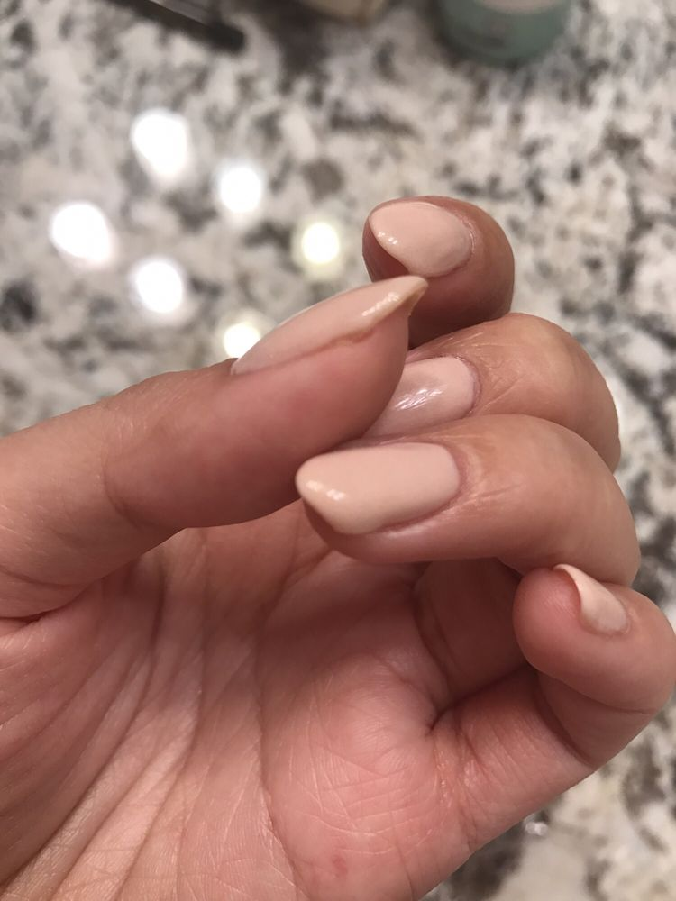 Uneven coat on ring finger. - Yelp