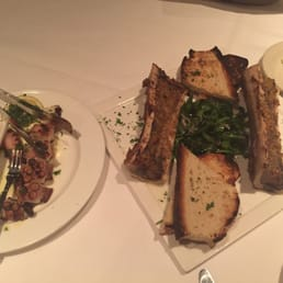 The River Palm Terrace - Edgewater, NJ, United States. Bone Marrow and Grilled  Octopus specials of Wednesdays