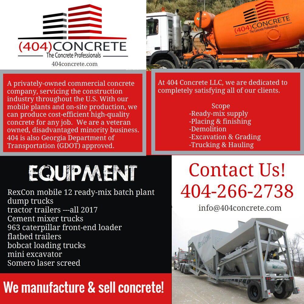 404Concrete - Masonry/Concrete - Lithonia, GA - Phone Number