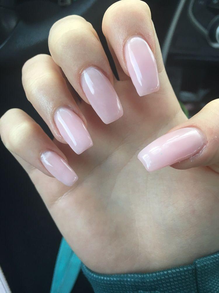 Uneven color, uneven nail shape - Yelp