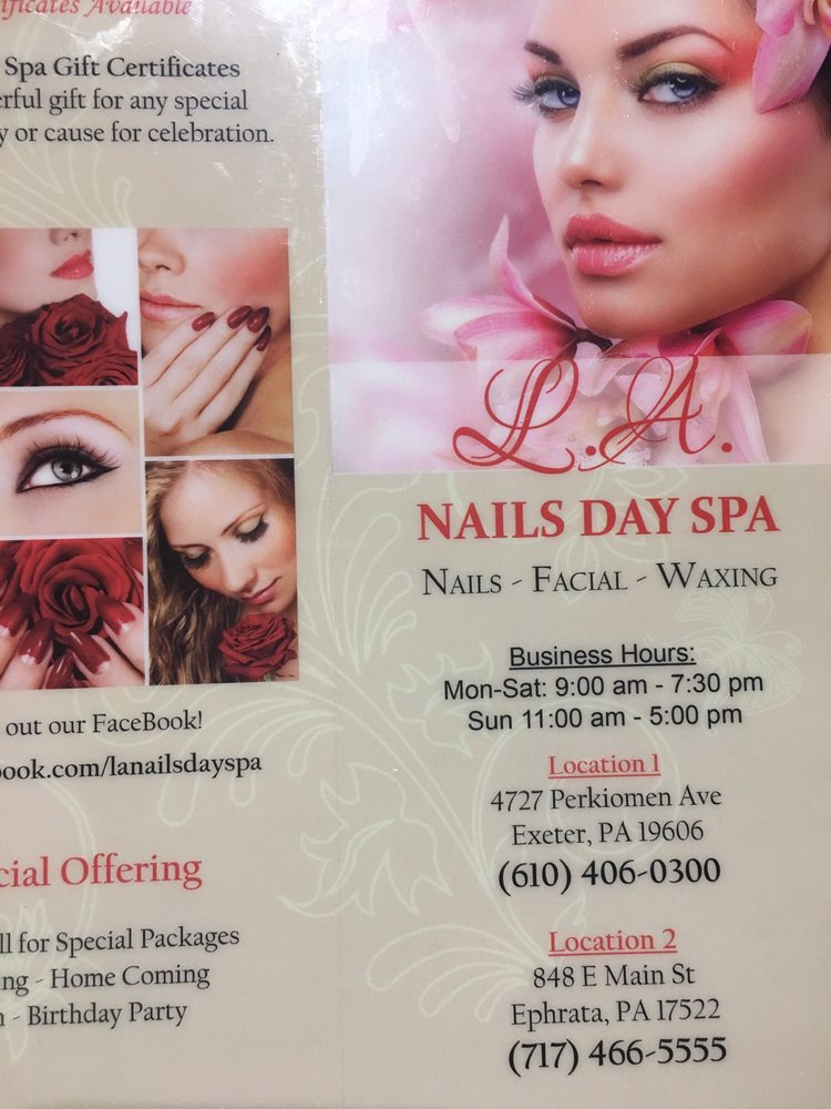 LA Nails Day Spa: 4727 Perkiomen Ave, Reading, PA