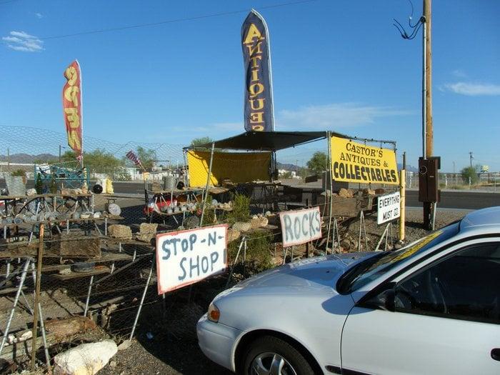 Castor's Antiques: 230 E Main St, Quartzsite, AZ