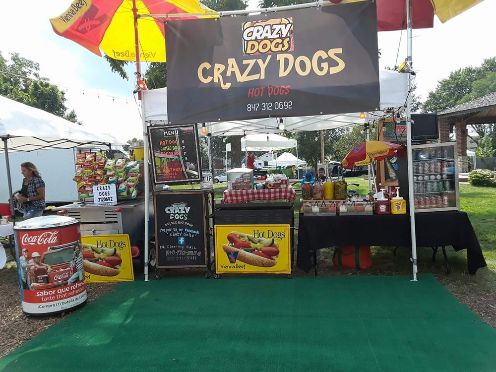 Crazy Dogs Hotdogs: 111 North Ave, Highwood, IL