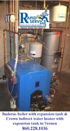 Buderus Boiler With Expansion Tank And Crown Indirect
