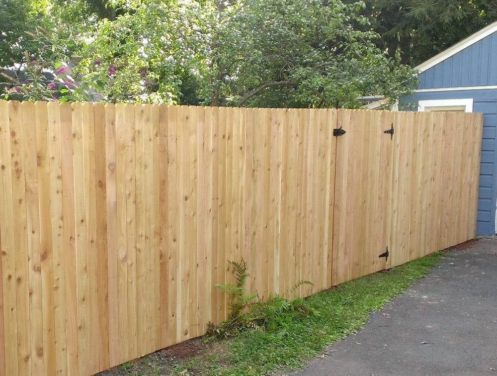 Red Cedar Solid Fence Yelp