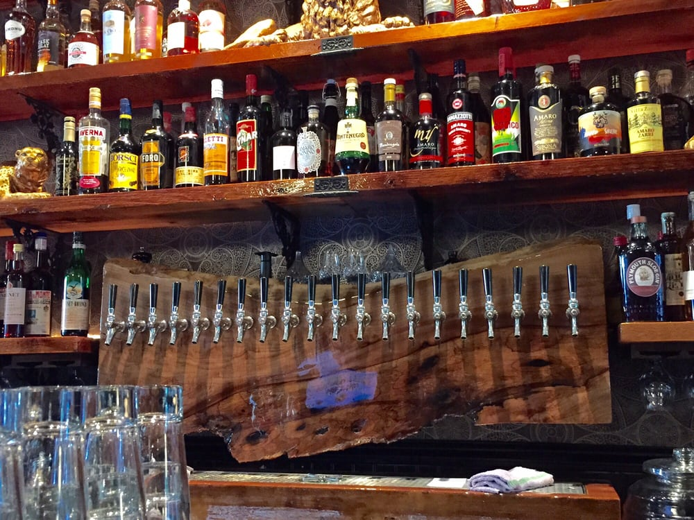 Gorgeous back bar and wall of beer taps - Yelp