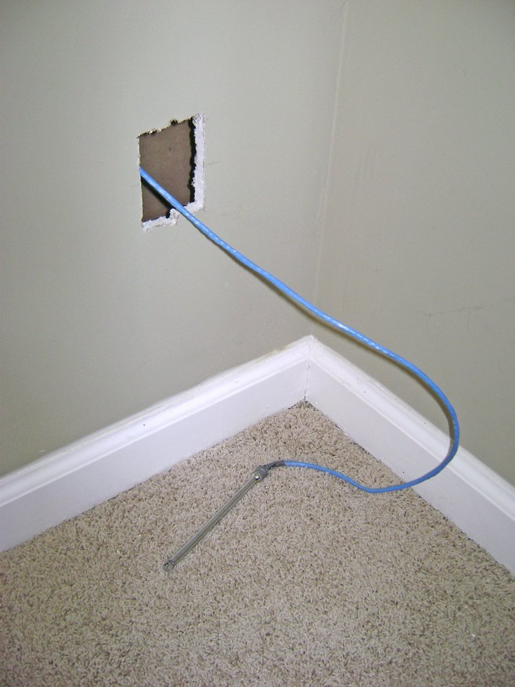 J m network wiring home network installation san - How to run a cable through an exterior wall ...