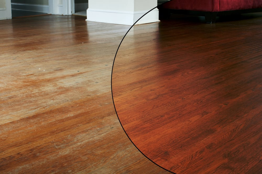 Hardwood floor refinishing by n hance no dust no mess for North wood flooring
