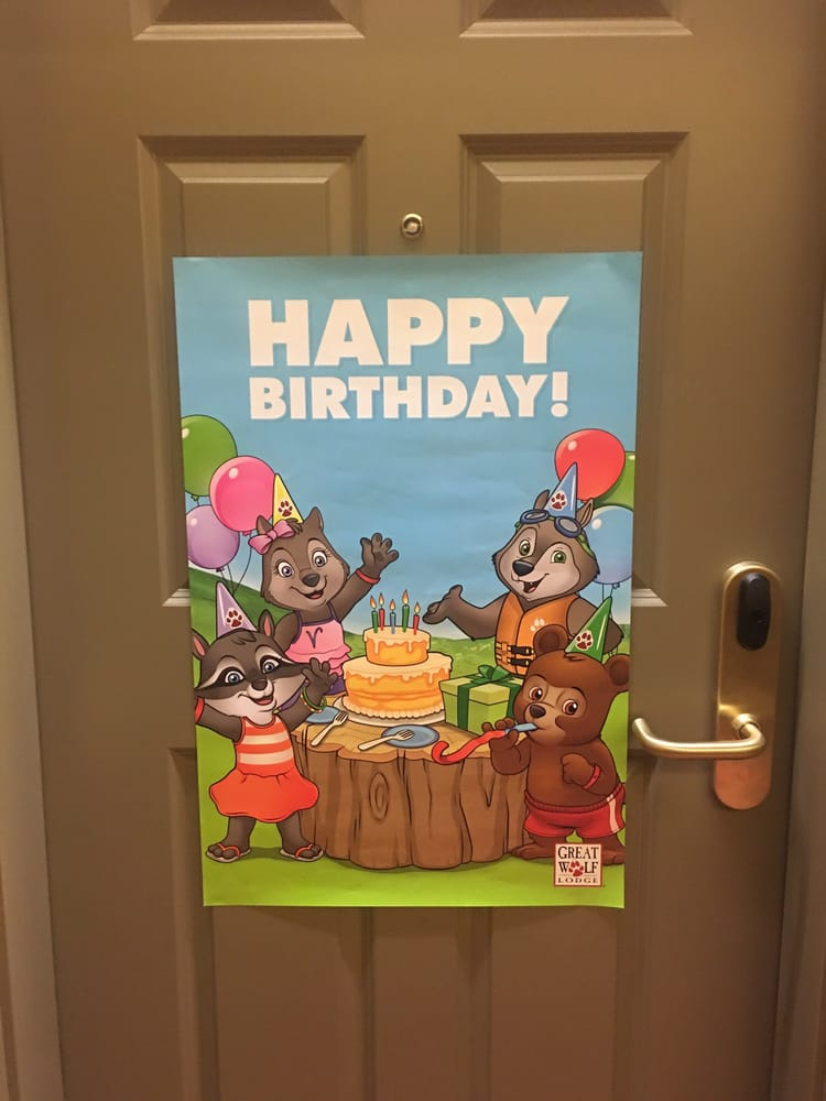 Happy Birthday Banner Was Not On Our Door When We Got To Our Room Either I Had To Call The