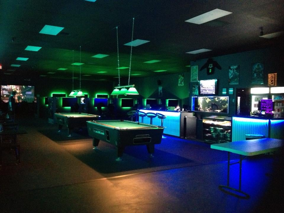 Front Counter And Pool Tables Offered At Black Wolf Gaming Center - Black wolf pool table