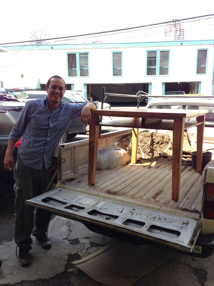 Happy client with his new dining work table yelp