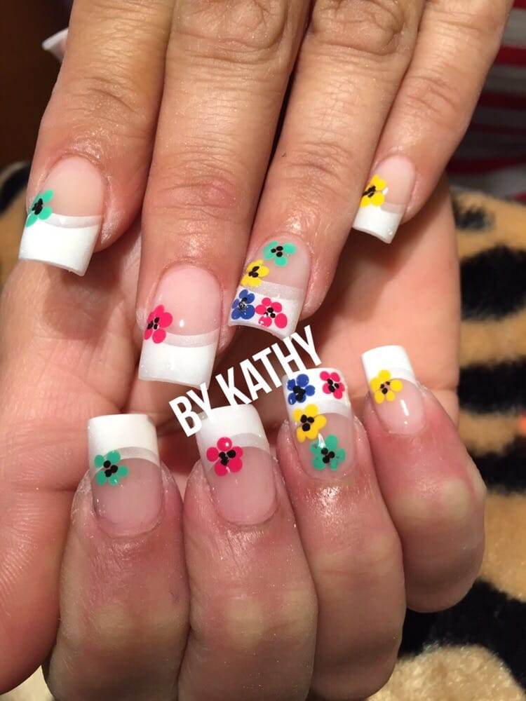 Acrylic Nails With Airbrush Designs Yelp