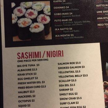 Naked fish s sushi grill 568 photos 435 reviews for Naked fish menu
