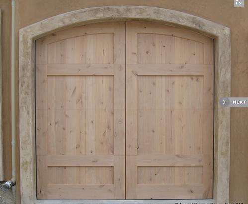 Full Custom Stain Grade Wood Garage Door In San Clemente