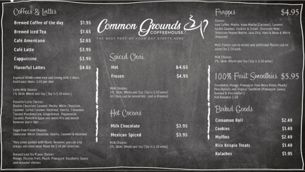 Common Grounds Coffeehouse: 7838 US Highway 60, Mountain View, MO