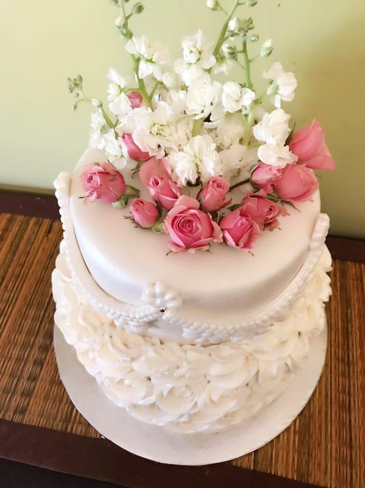Beautiful Birthday Cake 2 layer chocolate and vanilla cake with