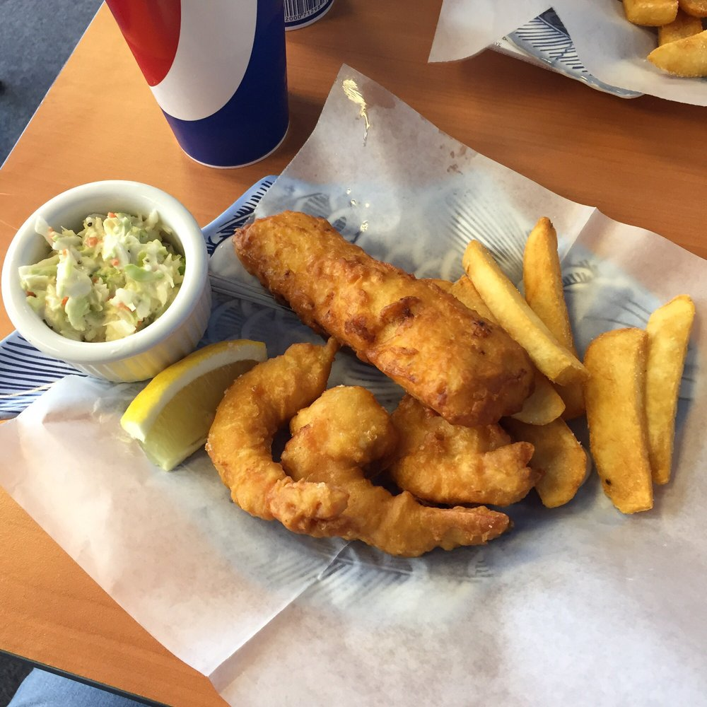 1 2 10 fish shrimp chips and coke slaw excellent yelp for Fish and shrimp near me